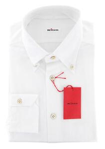 $600 Kiton White Solid Shirt - Slim - (UCCH59131RAA1)