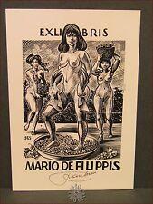 EROTICA - Ex-Libris Originale Firmato FRANK IVO Donne Vendemmia 365 De Filippis