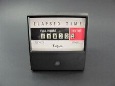 "Simpson 17720 - 120V Digital Elapsed Time Meter - 3.5"" Square - Hours / Tenths"