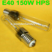 2 x HPS Son T Sodium Grow Lamp E40 150 Watt Light Bulb High Pressure Tubular NEW