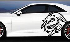 1x Grande Raro Dragon Fire Car Body Vinilo Autoadhesivo Con Gráfico JAP Dragon