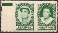 Bob Buhl Braves Willie Mays Giants 1961 TOPPS Baseball Stamp Panels 122718DBCD