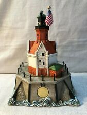 Limited Edition Lefton Racine Reef Wisconsin Lighthouse Lights Up #3909