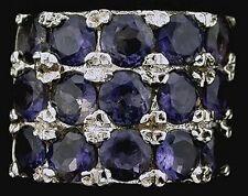 Iolite Round Gem Stone Gemstone Sterling Ring Size 6