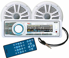 MCK752WB6 BOSS Marine Stereo Kit with BLUETOOTH,CD,USB,SD,AUX  & 2-6.5