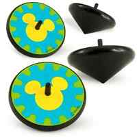 Disney Mickey Mouse Spinning Tops 4/pk Child's Toys Birthday Party Favors _3132