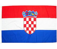 Fahne Kroatien Querformat 90 x 150 cm kroatische Flagge Wappen  Nationalflagge