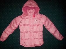 Hello Kitty Jacket Hooded Puffer Winter Warm Fleece Girls Small Sanrio Pink New