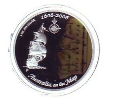 2006 Silver Proof $1 AUSTRALIA ON THE MAP DUYFKEN EXPLORATION