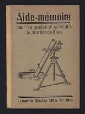 █ Aide-mémoire pour gradés et servants du Mortier de 81mm Stockes AREA Mle 1944