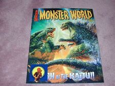 FAMOUS MONSTERS # 262, Monster World cover - STICKER version, Godzilla, MIB3