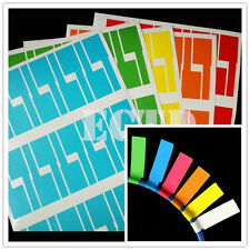 300pcs (10 Sheets A4) Self-adhesive Cable Labels Identification Markers Tags new