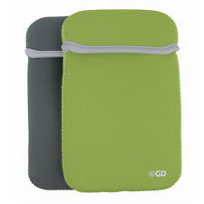 Reversible Neoprene Sleeve Cover Case for Dell Venue 10 Tablet - Green Gray