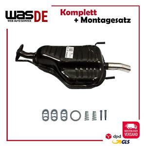 Auspuff Endschalldämpfer Opel Astra G CC 1.4 1.6 1.8 2.0 16V Chrom Endrohr