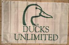 Ducks Unlimited Flag Green White Banner 3' X 5'