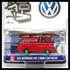 GREENLIGHT 1:64 Club Vee-Dub 6 1971 Volkswagen Type 2 DOUBLE CAB Green Machine