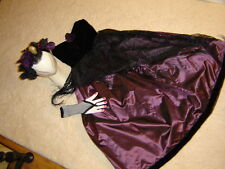 Day of the Dead black purple dress sz S woman's costume Dia los Muertos