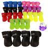 4pcs/Set Pet Dog Shoes Booties Puppy Anti-Slip Waterproof Protective Rain Boots