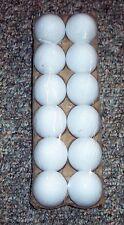 12 White Plastic Fake Faux Decorative Eggs Dyeable Markable 4 Crafts Party Favor
