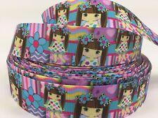 "BTY 1"" Cute Anime Girls Grosgrain Ribbon Hair Bows Scrapbooking Lisa"