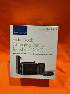 Insignia Side Dock Charging Station for Xbox One X Two 1200mAh rechargeable