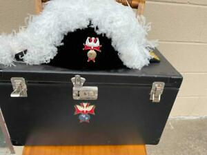 Knights Of Columbus K of C Ostrich Chapeau Hat Cape Sash Gloves Ties Case +more