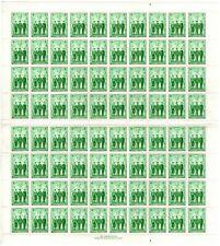 Australian stamp full sheet 1d Green AIF