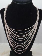 Jessica Simpson Silvertone Braided Multi Chain Drape Layer Necklace $58