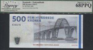 TT PK 68d 2012 DENMARK NATIONALBANK 500 KRONER LCG 68 PPQ SUPERB NEAR PERFECTION