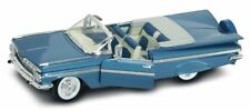 Chevrolet Impala Convertible 1959 Blue Metallic 1:18 Model LUCKY DIE CAST