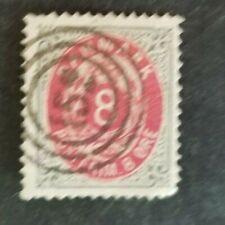 Denmark, Danmark 8 ore bi-colored with numeral cancel 152