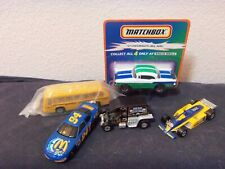 lot of older Matchbox and Hot Wheel toy cars, one mint on card Taco Bell premium