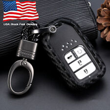 1x Carbon Fiber Style Car Key Case Accessories For Honda Accord Cr-V Hr-V Civic (Fits: Honda)
