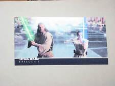 2000 Star Wars Episode 1 3D 3Di LENTICULAR Widevision PROMO CARD P1 Obi-Wan!