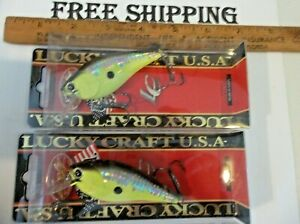 2 LUCKY CRAFT BDS 3 B.D.S CB Big Daddy Strike Fat BDS3 MS CRACK BLACK CHARTREUSE