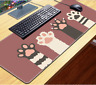 Extended Gaming Mouse Pad Stitched Edges Non-Slip Rubber Base Cloth Keyboard Mat