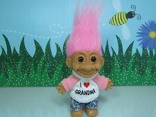 """I LOVE GRANDMA - 5"""" Russ Troll Doll - NEW IN ORIGINAL WRAPPER W/FLAWS"""