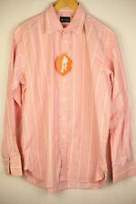 ENGLISH Mens AQUASCUTUM Shirt Long Sleeve 16.5 Collar PINK Striped P40