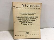 Tm 5-2410-214-35P. Maintenance for Tractor, full track, lo-speed, Cat model D-7