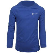 Camisetas de fútbol de manga larga en azul entrenamientos