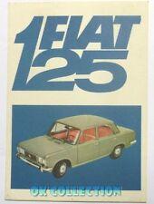 FIAT 125 ENALOTTO - VECCHIA CARTOLINA PUBBLICITARIA anni '70 / Old Postcard