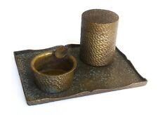 An Antique Arts & Crafts Style Hand Hammered Desk Set