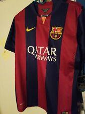 Nike FC Barcelona 2013/2014 Home Soccer Kit Jersey Large