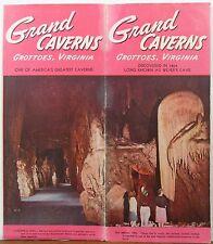 1950's Grand Caverns Grottoes Virginia vintage travel brochure b