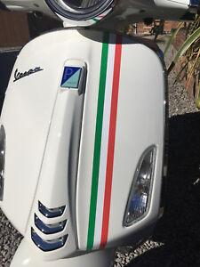 Italian Style Scooter Stripes Vespa Vinyl Stickers Bike Fairing Front