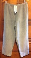 New! Alfred Dunner Womens Dress Pants Size 12P Petite, Green Blue Faux Suede NWT