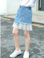 Kids Children Mesh Denim Dress Girls Princess Casual Short Dress 2020 New zq00