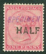 SG 125s Natal 1895. ½d on 1d rose, overprinted specimen in violet. Mounted mint