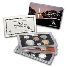 2013 U.S. SILVER Proof Set.14 coin Box and COA