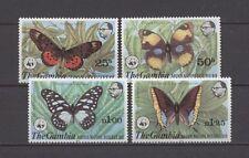 Mariposas, butterflies, WWF-gambia - 402-405 ** mnh 1980